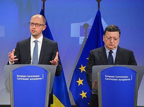Арсений Яценюк и Мануэль Баррозу