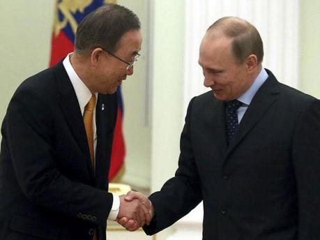 Пан Гі Мун та Володимир Путін
