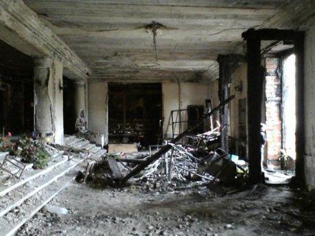 Обгорілий Будинок профспілок в Одесі