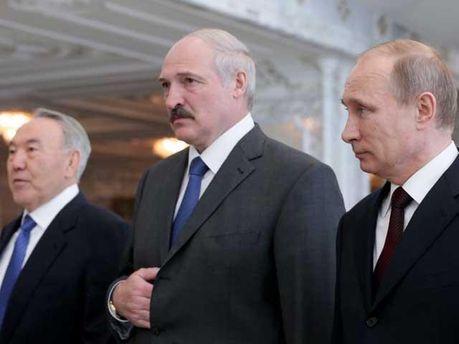 Президенты Казахстана, Беларуси и России
