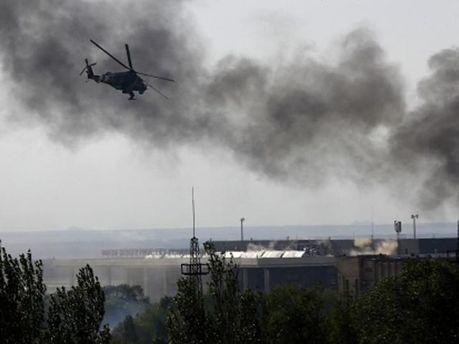 Над аэрпоротом Донецка