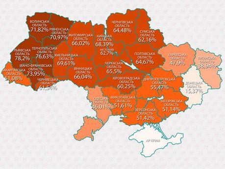 ВЫБОРЫ-2014: Активность избирателей по регионам (Инфографика)