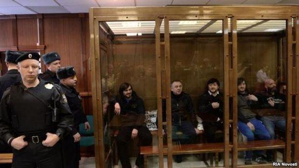 Підсудні у справі про вбивство Анни Політковської