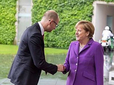Ангела Меркель і Арсеній Яценюк