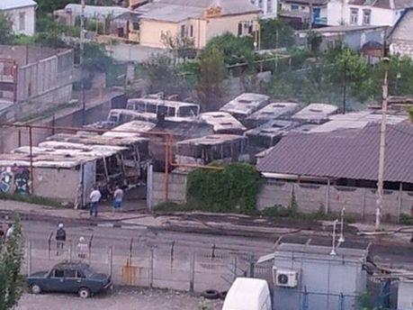Спалені автобуси