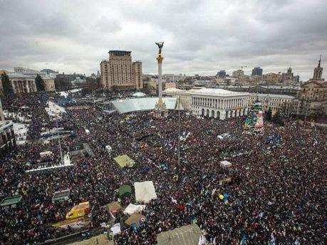 Майдан Независимости времен Евромайдана