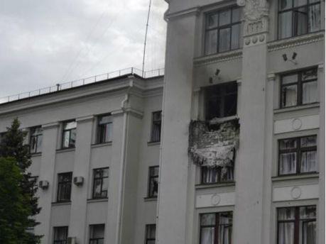 У Луганську стався вибух в ОДА