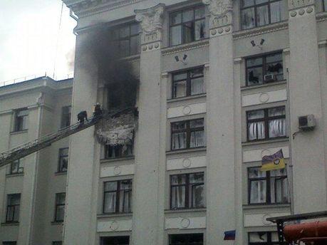 Взрыв в Луганской ОДА
