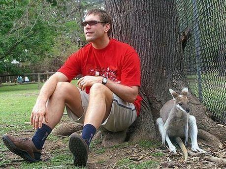Олег Царев и кенгуру