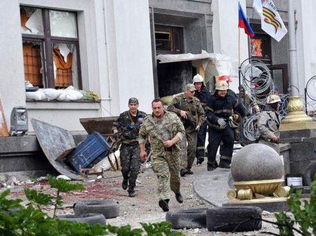 Взрыв в Луганской ОГА