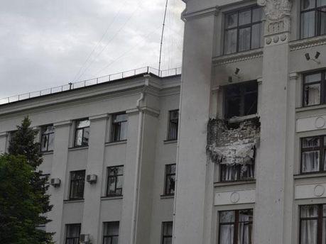Вибух в Луганській ОДА
