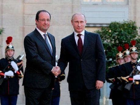 Франсуа Олланд та Володимир Путін