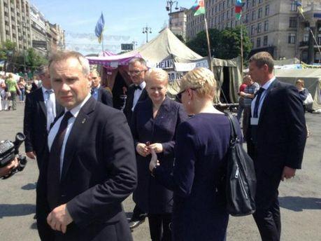 Даля Грибаускайте пришла на Майдан