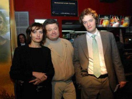 Петр Порошенко с женой и сыном