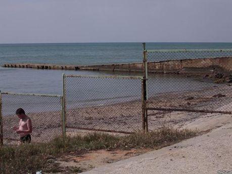 Крымский пляж после аннексии
