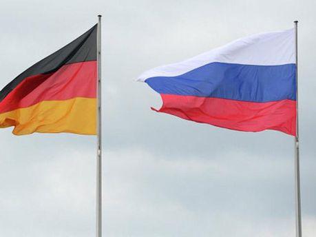 Прапори Росії та Німеччини