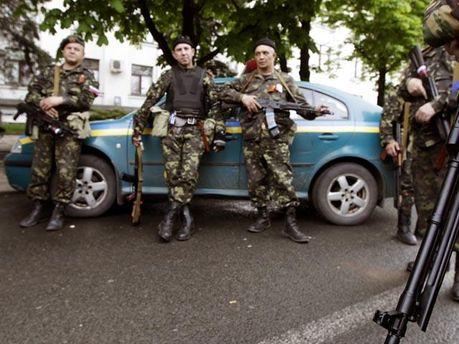 Бойовики на вулицях Донецька