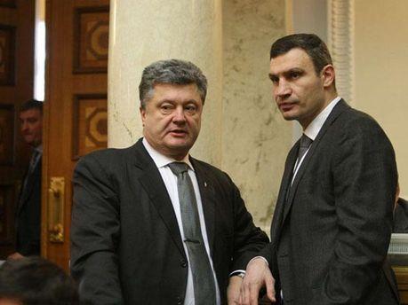 Петро Порошенко та Віталій Кличко