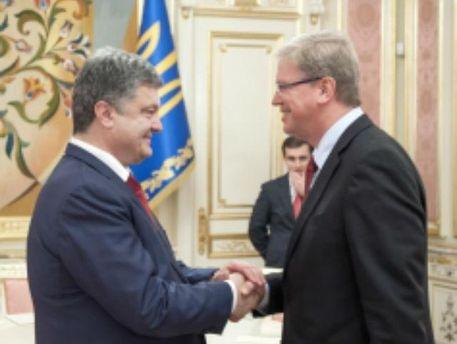 Петр Порошенко и Штефан Фюле