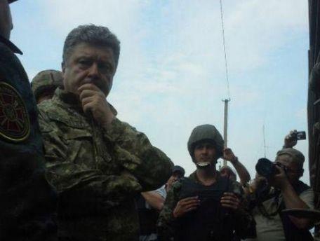 Петро Порошенко в зоні АТО