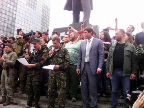 Олег Царьов в Донецьку