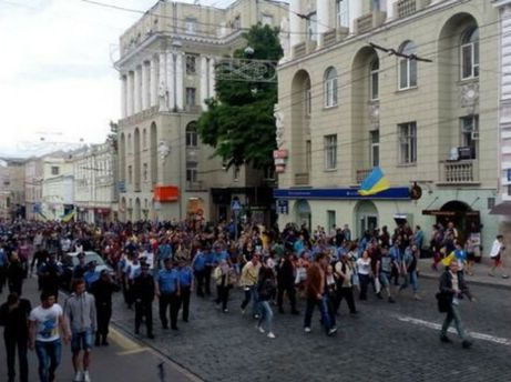 Проукраинское шествие в Харькове