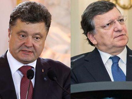 Петр Порошенко и Жозе Мануэль Баррозу