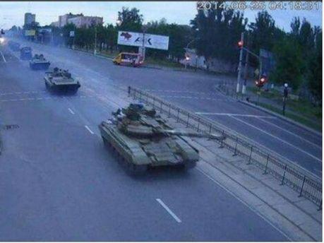 По Луганску ехали танки