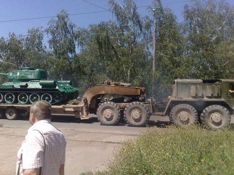 Вывоз танка