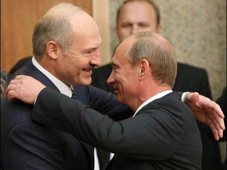 Олександр Лукашенко та Володимир Путін