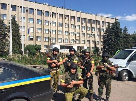 Силы АТО в Славянске