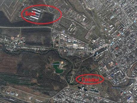 Район боя под Луганском