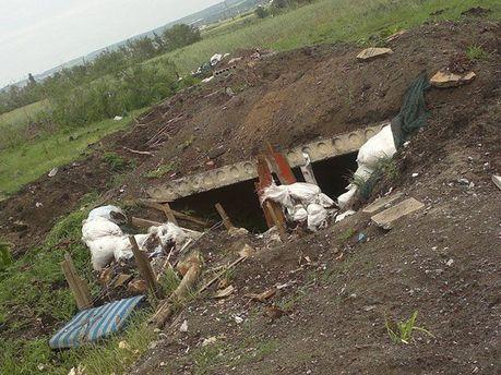 Окоп террористов в Селезневке