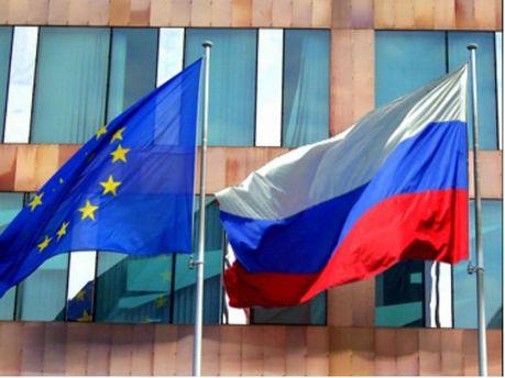 Прапор ЄС та Росії