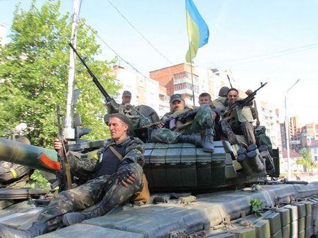 Українські військові у Слов'янську