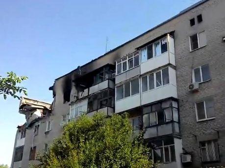 Разрушения в Марьинке