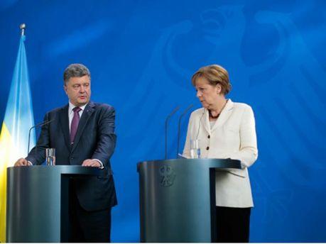 Петро Порошенко і Ангела Меркель