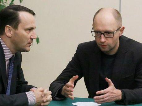 Арсеній Яценюк та Радослав Сікорський