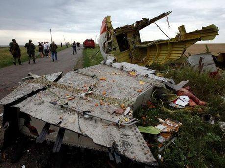 Місце падіння Boeing 777