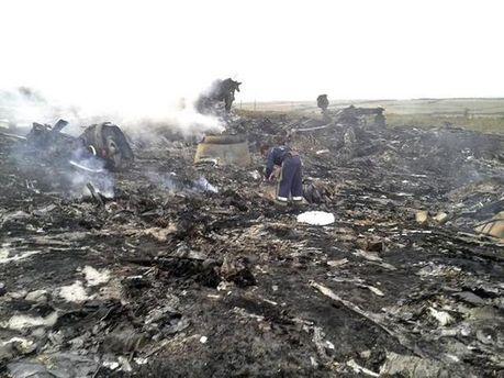 Место падения Boeing 777