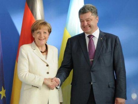 Петро Порошенко, Ангела Меркель