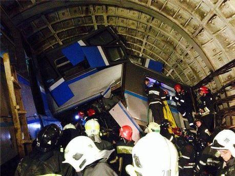 В аварии в московском метро