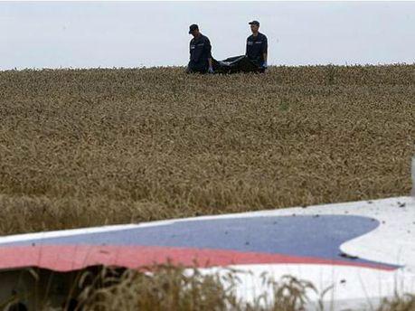 Место катастрофы Boeing 777
