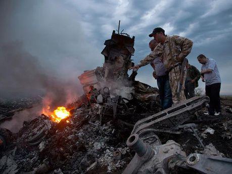 Место трагедии Boeing - 777