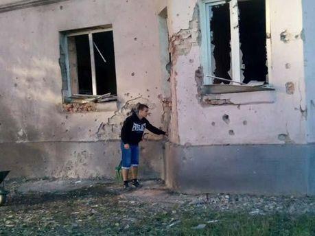 Наслідки артобстрілу в Донецьку