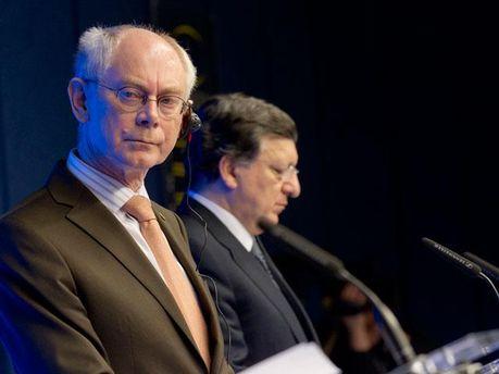 Герман Ван Ромпей та Жозе Мануель Баррозу