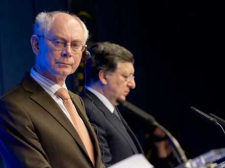 Герман Ван Ромпей и Жозе Мануэль Баррозу