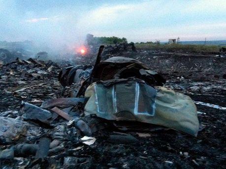 Місце падіння Boeing777