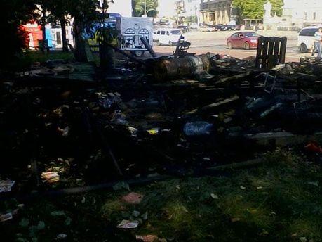 Пожарище на Михайловской площади
