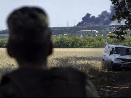 Артилерійські залпи у Горлівці